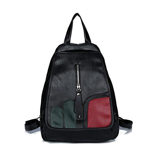 Generic - Bolso mochila de piel sintética para mujer multicolor S