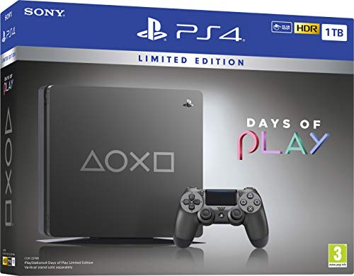 Days of Play Limited Edition Steel Black 1TB PS4 (PS4) 1
