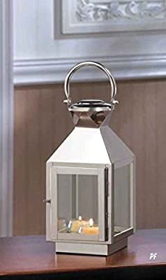 Dapper Stainless Steel Candle Lantern Small
