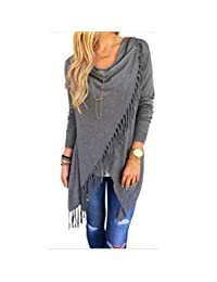 cnWay Women long-sleeved pullover Baggy Loose Jumper Top knit V-neck sweater