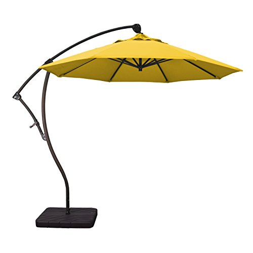 Phat Tommy 9 Ft Cantilever Offset Aluminum Market Patio Umbrella with Tilt - for Shade and Outdoor Living, - 9 Market Cantilever Umbrella
