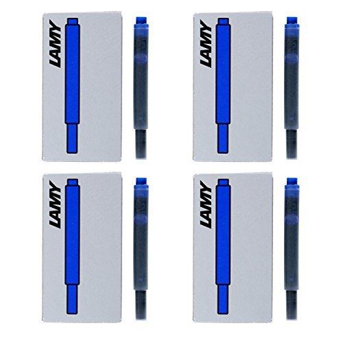 Lamy Fountain Pen Ink Cartridges, Blue Ink, Pack of 20 (LT10BLB) by Lamy