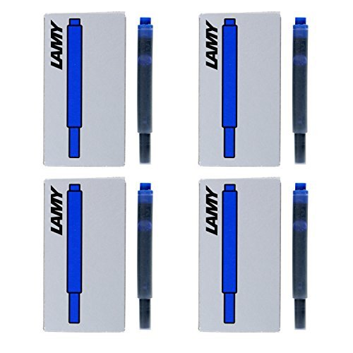 - Lamy Fountain Pen Ink Cartridges, Blue Ink, Pack of 20 (LT10BLB)