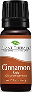 Plant Therapy Cinnamon Bark Essential Oil 10 mL (1/3 oz) 100% Pure, Undiluted, Therapeutic Grade