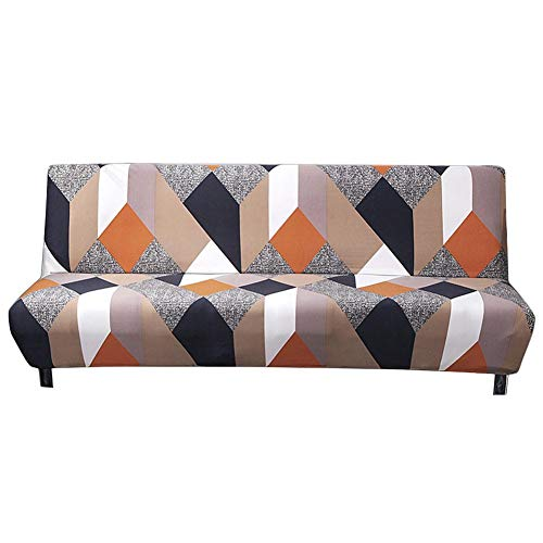 Fovolat Sofa Cover, Elastic Thicker Folding Anti-Slip Waterproof Sofa Futon Cover for Patio Couch Bench 1pcs - Cover Futon Printed