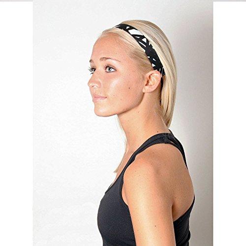Sweaty Bands Womens Girls Headband - Non-Slip Velvet-Lined Workout Hairband - Turbulence 1-Inch by Sweaty Bands (Image #2)