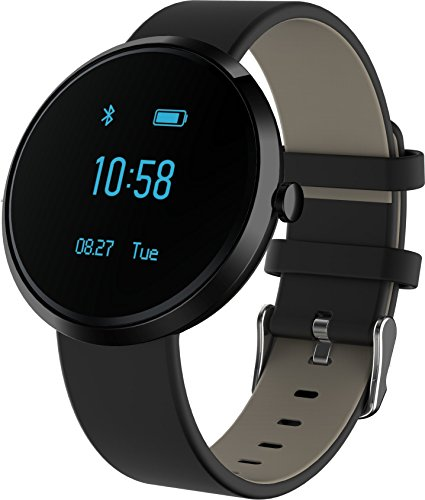 KESSDER H Band Fitness Tracker Watch; Monitors Blood Pressure, Heart Rate, Activity and Sleep, with App for Android and IOS (Black)