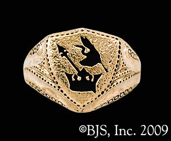 14k. Gold Lan's Ring ™ - Ring of the Malkieri Kings ™ Robert Jordan Wheel of Time ® Jewelry by Raven Blackwood