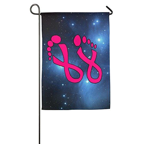 BuntingLove Foot Pink Ribbon Breast Cancer Awareness Garden Flag Printed Home Backyard Gift (Feet Printed Ribbon)
