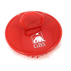 GBS Shampoo Massage Brush No.100 - Single Red Brush - Scalp Massager for Hair Growth Beard Brush - Can also be used as Pet Grooming Brushes