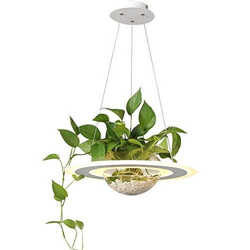 (CUICAN Round Acrylic Creative Pendant Light, LED 28w Adjustable Glass Design Pendant Light Hanging Light for Dining Room Balcony Pendant Lamp-Warm Light LED 28w)