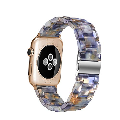 QIONGQIONG Iwatch Apple Watch Strap Smart Watch Resin Ceramic Waterproof Casual for Iwatch Series 1/2/3/4,38Mm/42M/40Mm/44Mm,44Mm