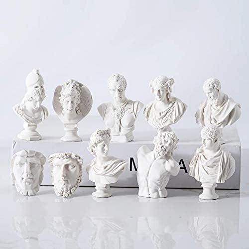 6-7cm Mini Detail Rich Art Painting Decoration Resin Plaster Head 10 Suits B