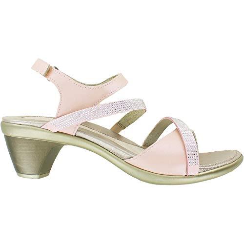 (NAOT Footwear Women's Innovate Heel Pearl Rose Lthr/Light Pink w/Silver Rivets - 40 M EU)