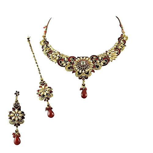 Dancing Girl Ethnic Indian Artisan Jewelry Set Traditional designer Necklace SetMINE0108MA