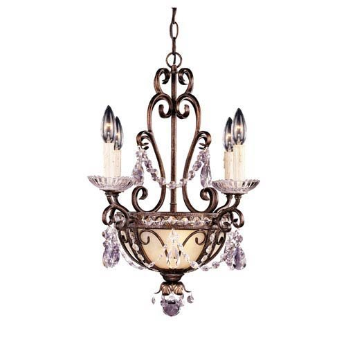 Savoy House 1-4505-4-8 6 Light Mini Chandelier in Brown Tortoise Shell w/Silver Gold