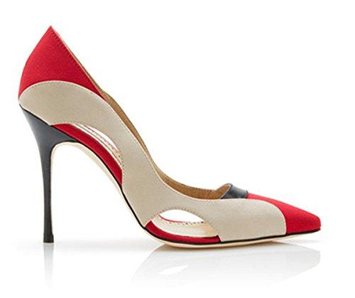 Honeystore Womens Out A Spillo Tacchi A Spillo Colore Rosso Pompe Pendolarismo Scarpe Rosse