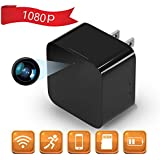 1080P WiFi Spy Camera, Hidden Camera, Mini Camera, Nanny Camera, USB Charger Camera Motion Detection, Loop Recording Home Office Security Surveillance