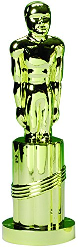 Metallic Gold Best Costume Halloween Statue Trophy (Hollywood Oscars Themed Party Costumes)