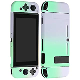 Vinsung Protective Cover Case for N-Switch and Joy-Con Controllers,Dockable Case for N-Switch (Purple and Green)