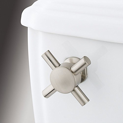 Kingston Brass Concord Toilet Tank Cross Handle - Satin Nickel, Bathroom Plumbing fixtures & Sinks