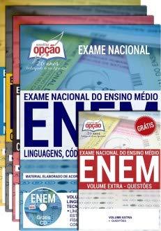 Livro: Apostila Preparatória ENEM 2019. Coleção completa em 4 Volumes Grátis Caderno Questões. 1