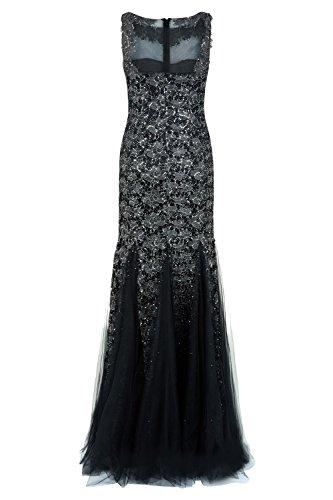 Lange Rotguss Stil ohne 1012720 Gunmetal Dynasty Schal Maia Damen Kleid qWtpaAO