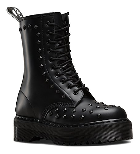 Dr. Martens Unisex-adulto 1490 Stud 10 Eye Boot Nero