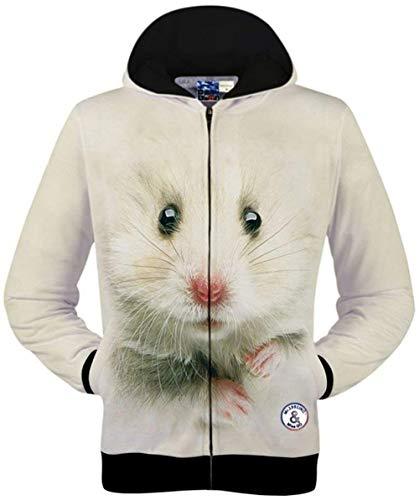 Hop 19 Unisex Colour Maniche Lunghe 3d Animal Giovane Outwear Cappuccio color Hip Digitale Tasche Stampa Laterali Giacche A L Con Size qzFpU4Tt