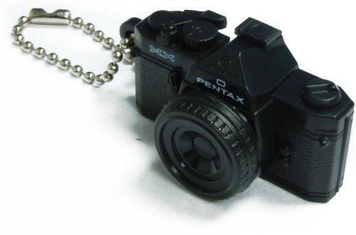 Pentax Capsule Mini Camera Keychain MX Black Camera Pentax Hot Shoe