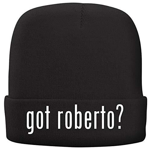 BH Cool Designs got Roberto? - Adult Comfortable Fleece Lined Beanie, Black