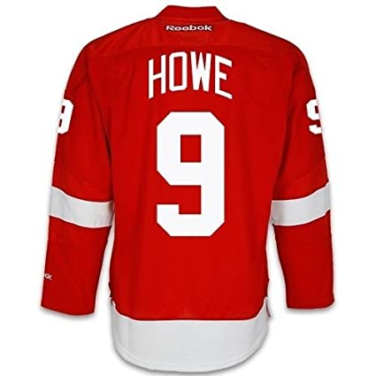 3509efc6 Gordie Howe Detroit Red Wings Home Red Reebok Premier Jersey Sewn Tackle  Twill Name and Number