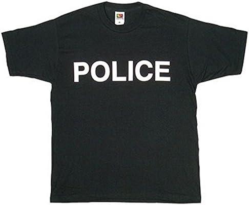 Fox al Aire Libre Productos Policía Blanco impresión a Doble Cara Imprinted Camiseta, Hombre, Negro, XXXL: Amazon.es: Deportes y aire libre