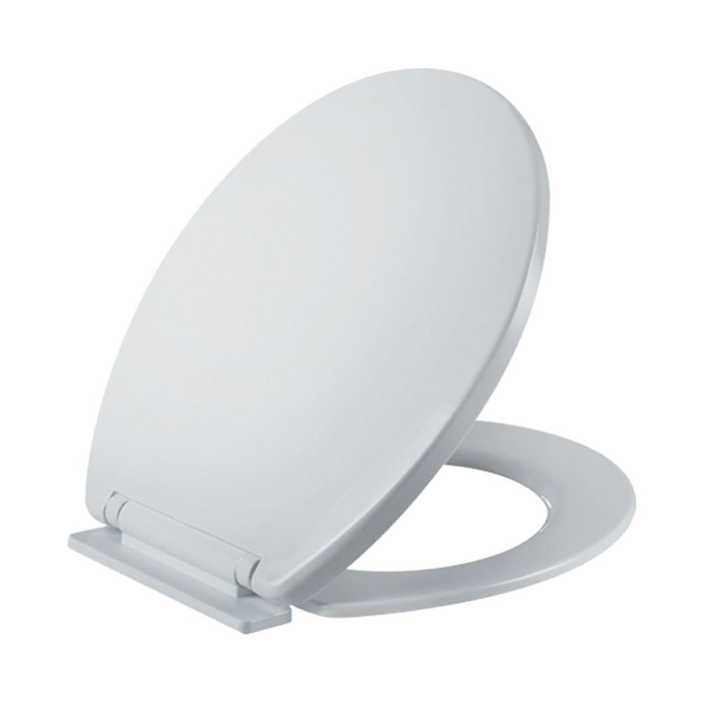 Luxury Soft Close Toilet Seat Oval Quality Polypropylene Slow No Noise Anti Slam Closure Fittings Included WC Bathroom - White Sabar