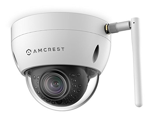 Amcrest ProHD Fixed Outdoor 3-Megapixel (2304 x 1296P) Wi-Fi Vandal Dome IP Security Camera - IP67 Weatherproof, IK10 Vandal-Proof, 3MP (1080P/1296P), IP3M-956W (White)