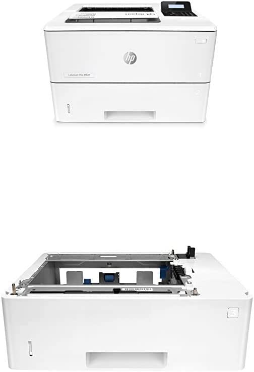 HP Laserjet Pro M501dn Duplex Printer with One-Year, Next-Business Day, Onsite Warranty (J8H61A) with Additional 550-Sheet Feeder Tray (F2A72A)