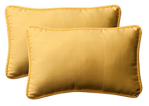 Pack of 2 Outdoor Patio Rectangular Throw Pillows 18.5