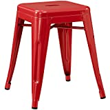 Modern-Contemporary-Metal-Stool-Red