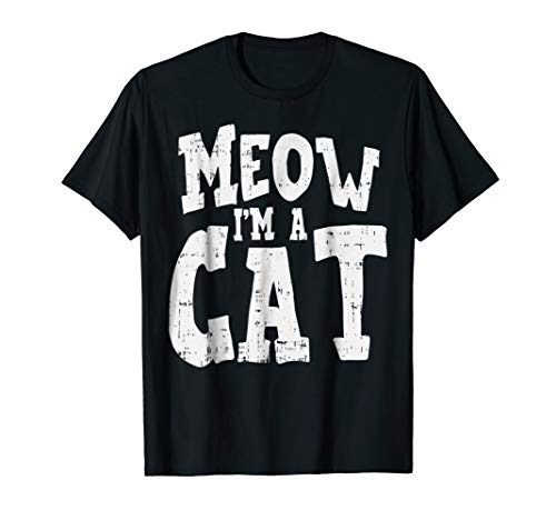 Meow I'm A Cat Funny Easy Halloween Costume Cat Lover