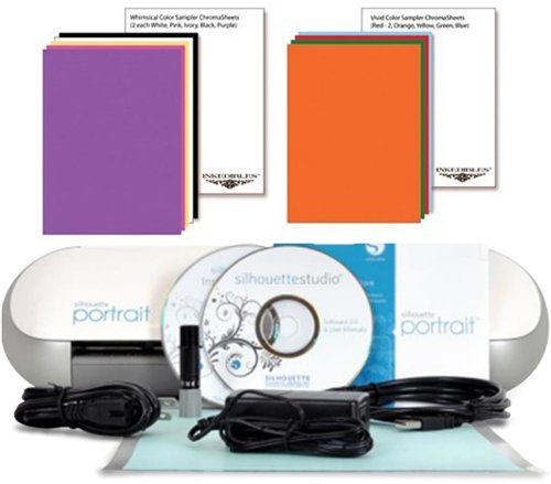 YummyInks ™ Brand: Silhouette Portrait Cutter Set with 20 ChromaSheets