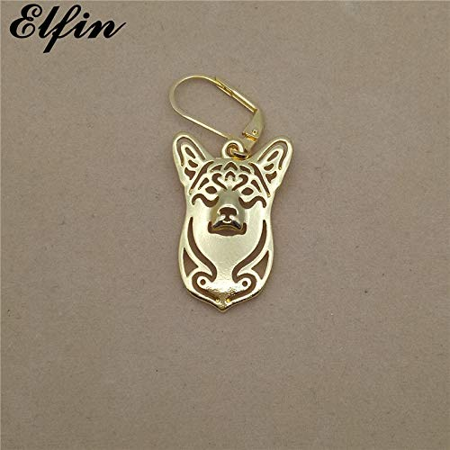 (Trendy Welsh Corgi Earrings | Fashionable Jewelry | Gold, Silver Color Swedish Vallhund Earrings | for)