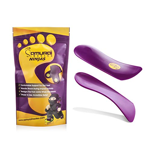 Samurai Insoles Orthotics for Flat Feet by Ninjas, Shoe Inserts with Arch Supports, Insoles for Men, Plantar Fasciitis Inserts for Foot Support, Arch Supports for Plantar Fasciitis Support M13 Purple