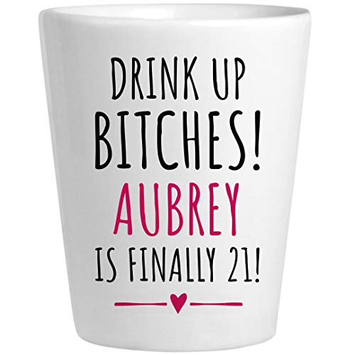 Aubrey 21st Birthday Gift: Ceramic Shot -