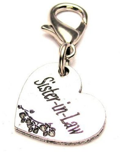 Sister-In-Law ChubbyChicoCharms Pewter Charm Zipper Pull