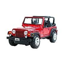 1:27 Die Cast Car Model Jeep Alloy Car Model SUV Car Toy (Red)