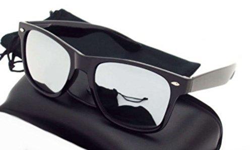 Lunettes Vintage Retro miroir Fashion effet 80's Wayfarer PURECITY® style Monture Noir Geek soleil Tendance Verres de Axq4Fw0d