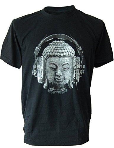 SODAtees DJ Buddha Headphones music Men's T-SHIRT goa club