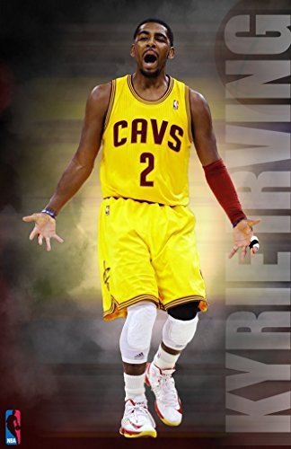 Kyrie Irving Cleveland Cavaliers Basketball Poster Art Print B