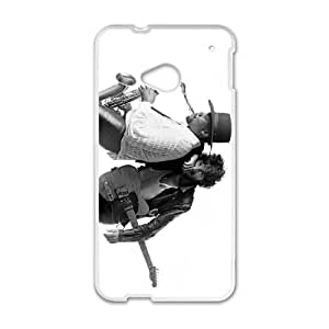 HTC One M7 Cell Phone Case White Bruce Springsteen yqw