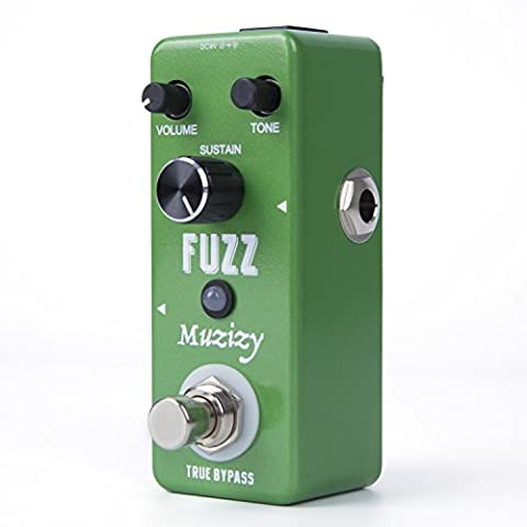 Muzizy Fuzz Guitar Effects Pedal, Electric Traditional Mini Compact Size True Bypass (Bass Pedal Fuzz)